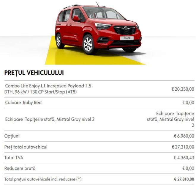 Opel Combo Life Enjoy 1.5 DTH 130 CP Start/Stop AT8