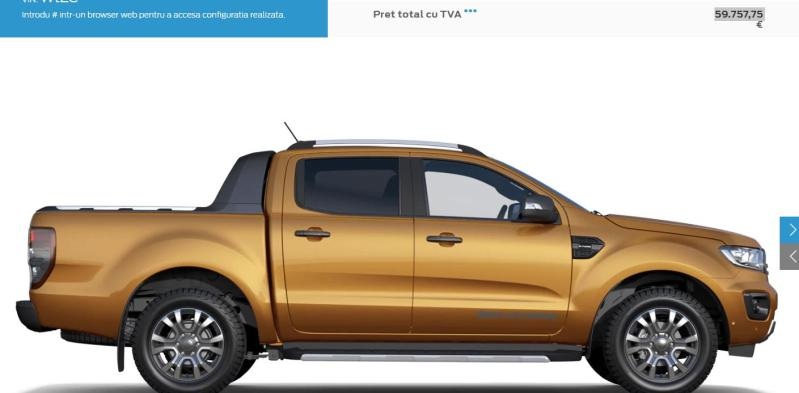 Ford vinde acum versiunea Ranger Wildtrack 2020 2.0L EcoBlue 213CP A10 STAGE 6.2 cu 60.000 euro