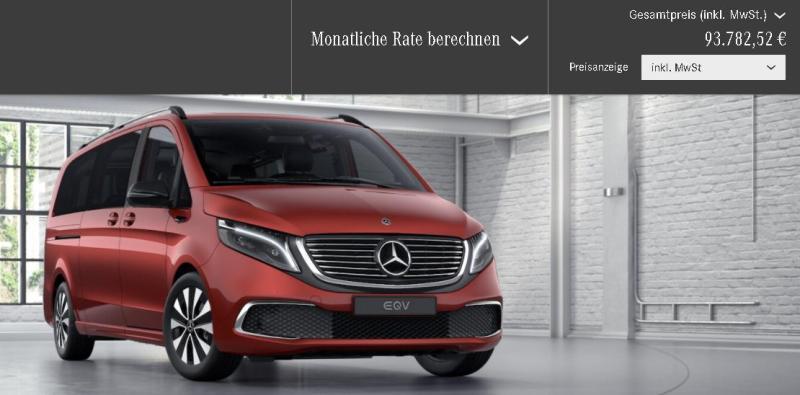 Noul Mercedes-Benz EQV 300 costa peste 90.000 euro si merge doar 250 de km
