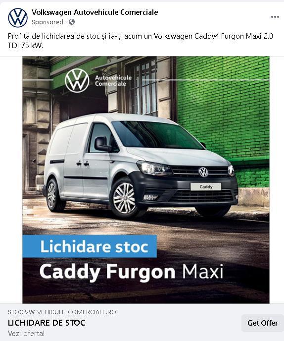 Noul VW Caddy 2,0 TDI 102 CP este mai scump in Romania cu 3300 euro fata de Ungaria
