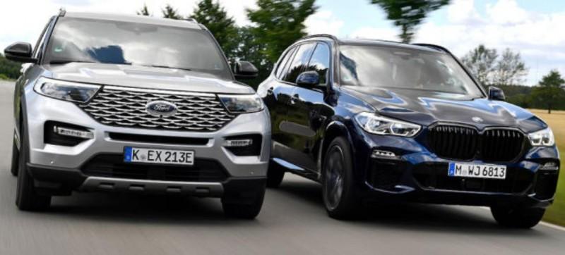 Ford Explorer 3.0 V6 PHEV 2020 vs BMW X5 M50i 2020, pret explorer phev 2020, test drive ford explorer phev 2020, consum real ford explorer phev, autonomie electrica explorer phev, 0-100, bmw x5 m50i autolatest, consum bmw x5 m50i, explorer phev europe 2020