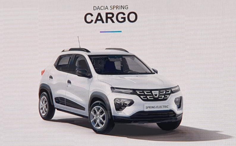 Dacia a lansat astazi in premiera prima masina comerciala romaneasca electrica Dacia Spring Cargo