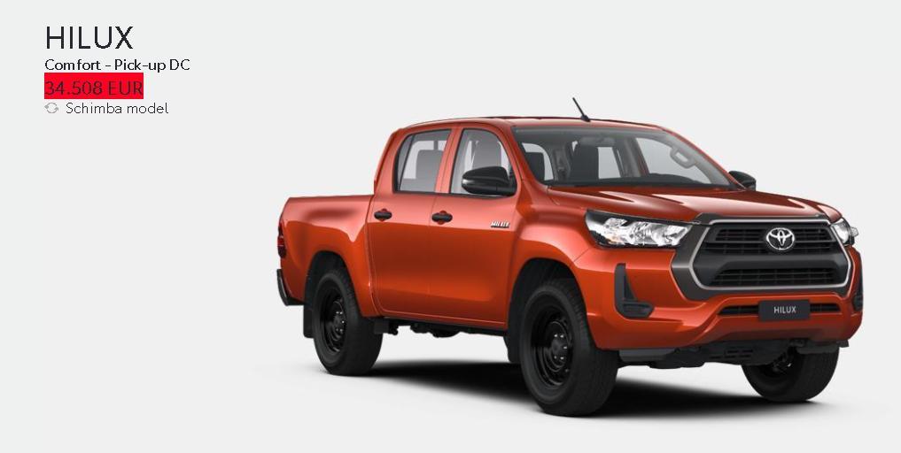 Toyota Romania vinde gama Hilux cu 6.000 euro mai scump decat in Ungaria