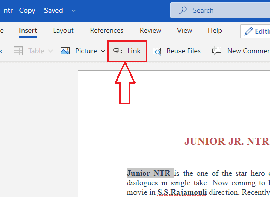 How to insert, edit and remove Hyperlink in word? 5