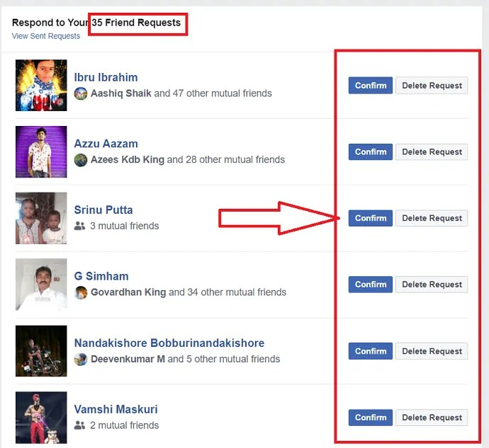 How to Accept Or Reject all friend requests at once on Facebook 4