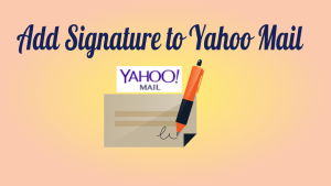 Add Signature to Yahoo Mail