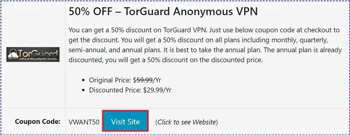 TorGuard Discount Coupon