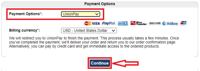 Malwarefox payment options