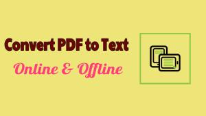 Convert PDF to Text