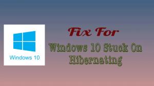 Windows 10 Hibernating