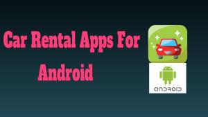 Car Rental Apps