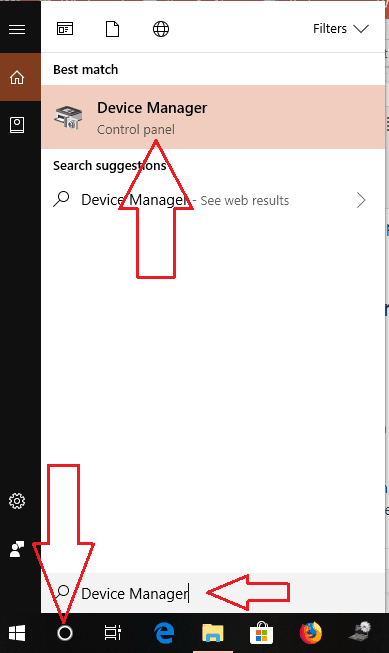 Search For Device Manager on Latest Windows