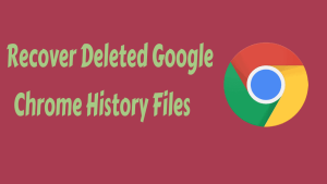 Recover Deleted Google Chrome History Files