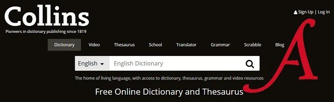 Collins: English dictionary online