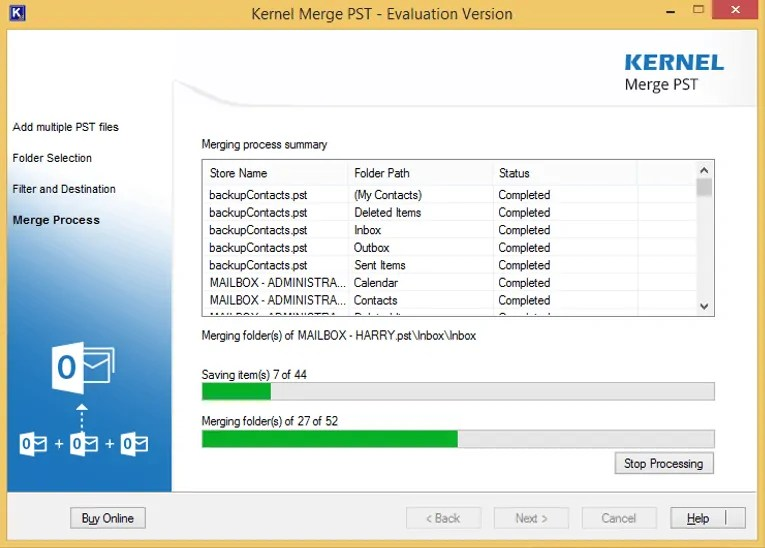 Kernel Merge PST Review:  Merging Multiple PST files has never been this easier 6