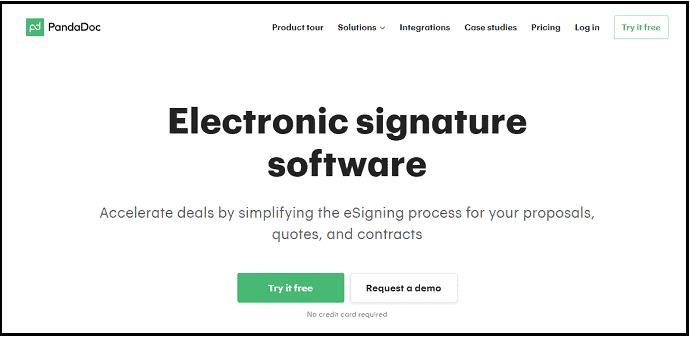 PandaDoc-Online Signature-Software-Site-HomePage