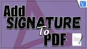 signature to pdf