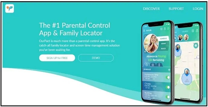 Parental Control App & Family Locator-web-page-for-iPhone-users