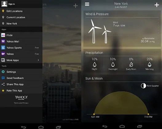 Yahoo Weather-App-page-which-is-the-best-weather-app-for-Android