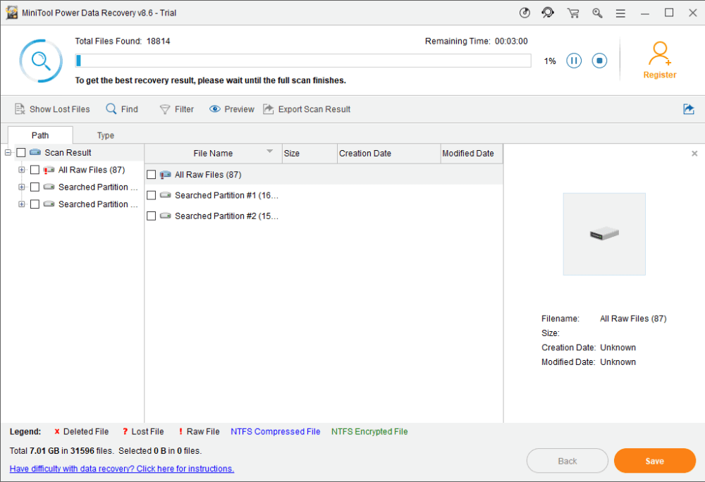 USB recovery with minitool data recovery