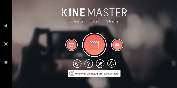 KineMaster-App-Opening page
