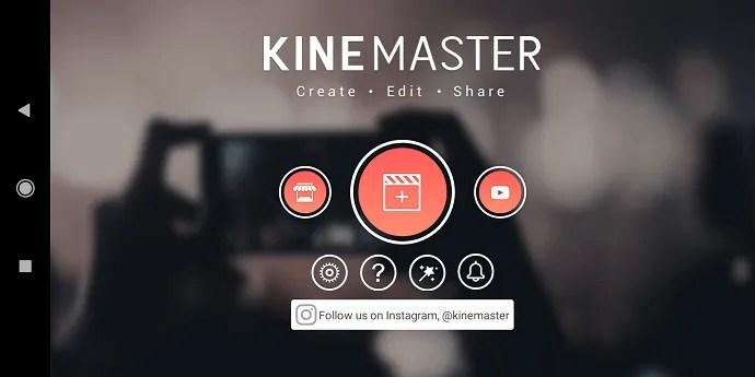 KineMaster-App-Opening page