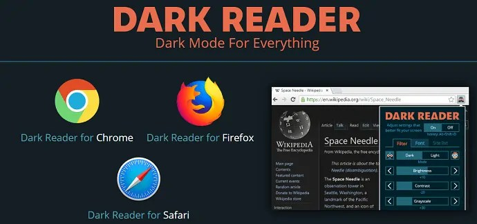 Dark Reader-an-efficient-darkmode-chrome-extension-official-webpage