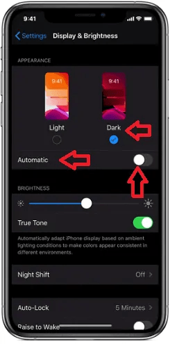 Enabling-Dark-mode-on-iPhone-or-iPad