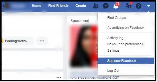 See New Facebook-option-on-your-Facebook-desktop-webpage