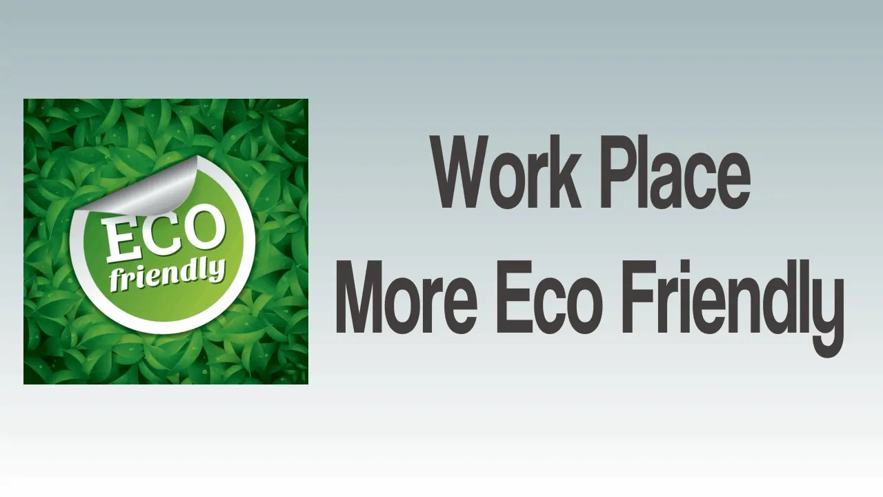 Work Place More Eco Friendly