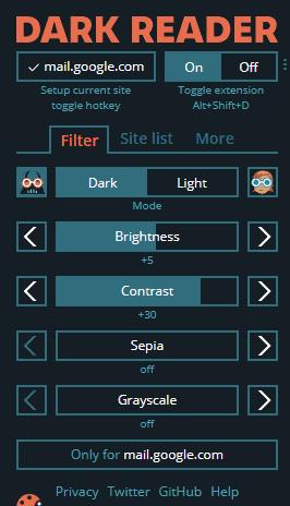 Chrome Extension-Dark Reader-to-enable-dark-mode-on-chrome