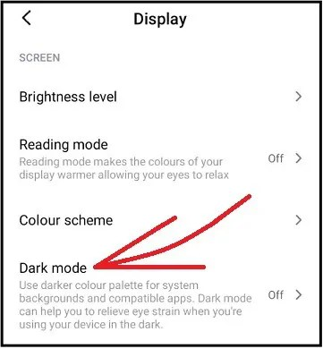 Dark mode-option-in-Android
