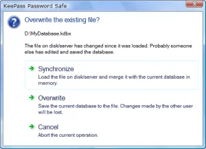 keepass password sharing