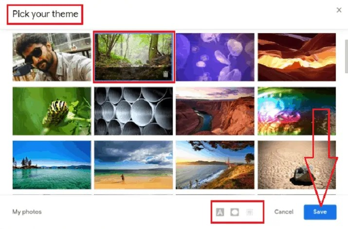 How to Change Gmail  Background Image or Theme or Color 7