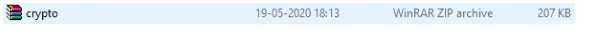 WinRAR zip file