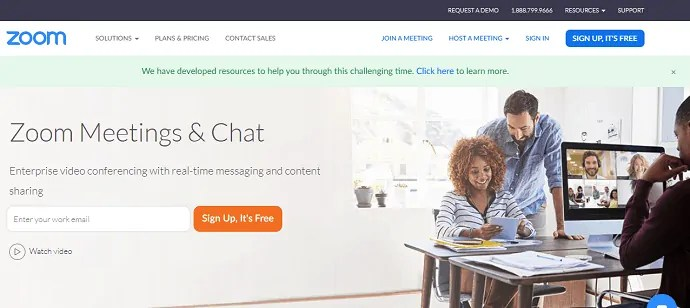 Zoom-Meetings-and-chat-official-website-page