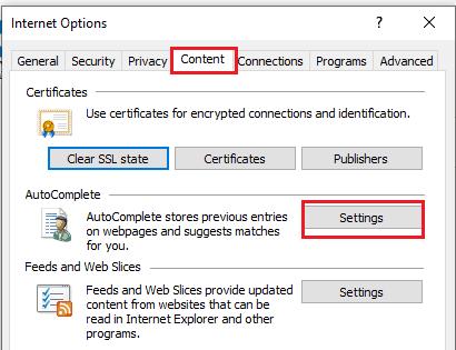 content option