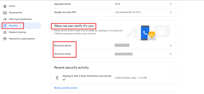 6 simple steps to Secure Google account 1