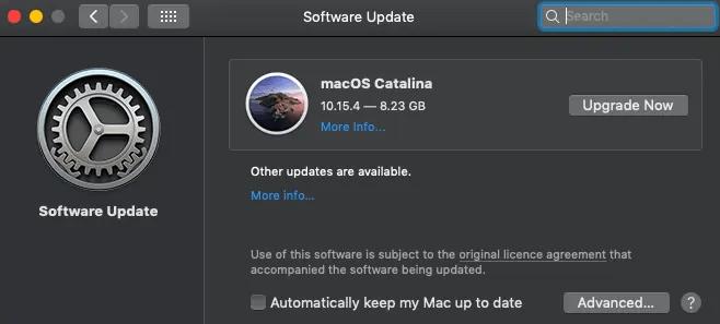 software update-setup a new mac