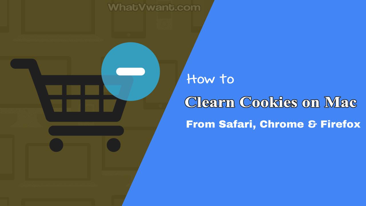 Clear cookies on Mac