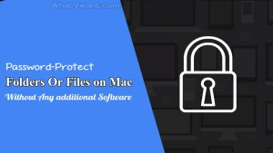 Password-protect files on Mac