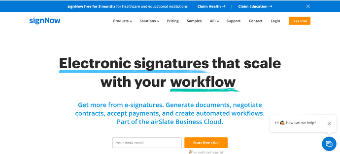 SignNow-Electronic signatures that scale with your workflow.