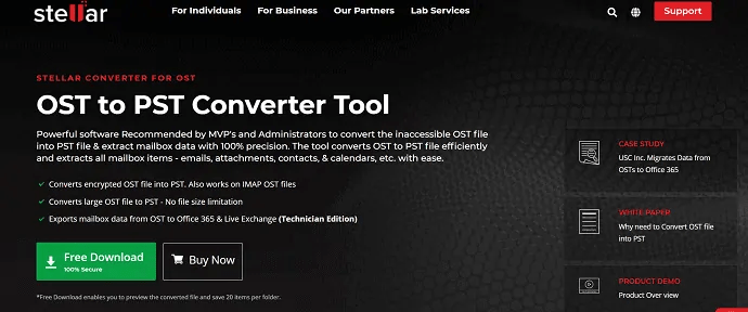 stellar OST to PST converter-powerful software recommended by the MVPs and Administrators.