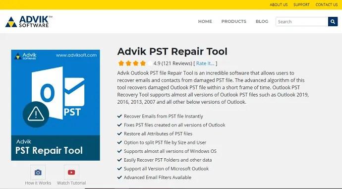 ADVIK PST Repair Tool
