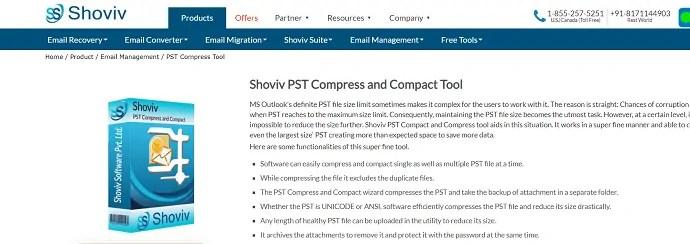 Shoviv PST compress &compact Tool.