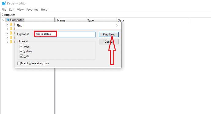 select find next option