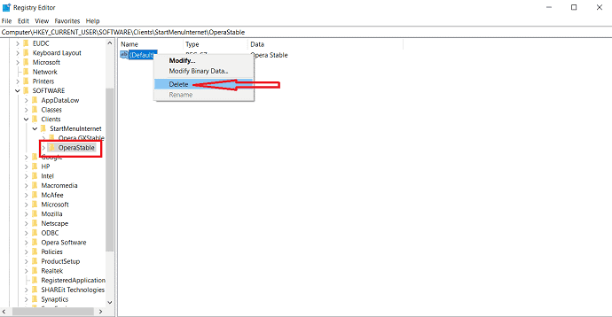 delete the displayed files.