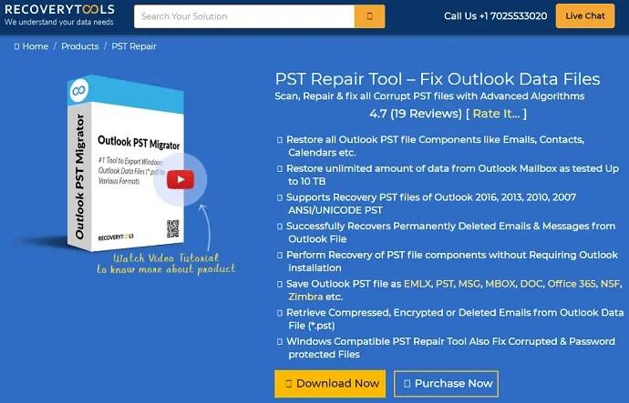 recovery tools outlook repair tool