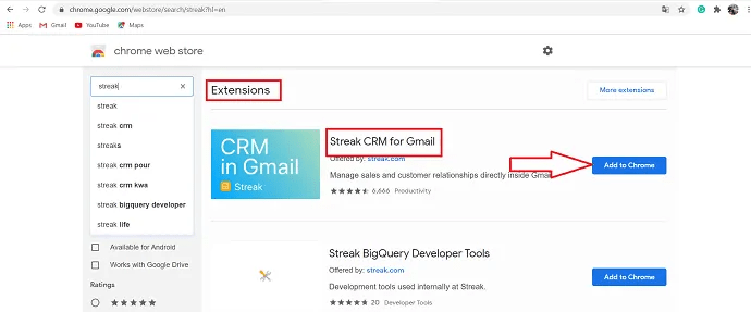 click on add to chrome option.