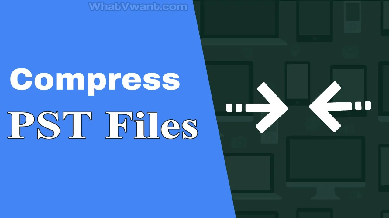 Compress PST file